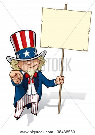 "Uncle Sam ""I Want You"" Placard"
