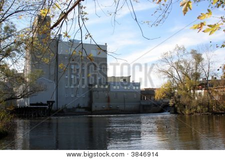 Feed Mill On River