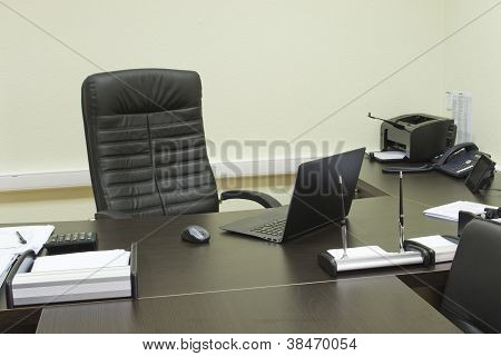 Manager's Office, Computer On The Table