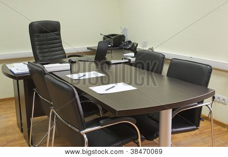 Office Of A Manager, Ready For Meeting