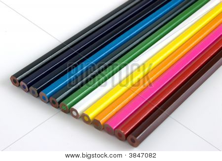 Set Of Colorful Pencil Crayons