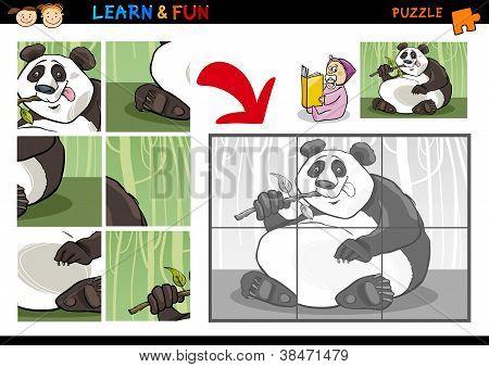 Cartoon Panda Bear Puzzle Game