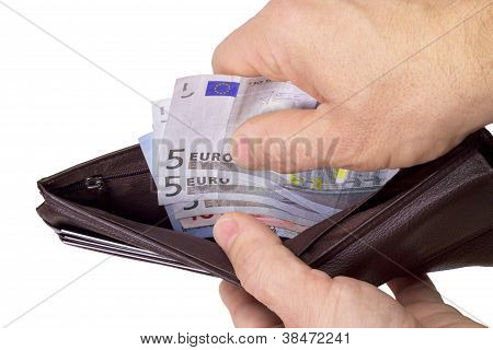 Pulling Money Out Of Wallet