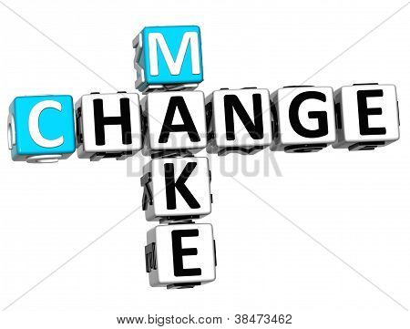 3D Make Change Crossword