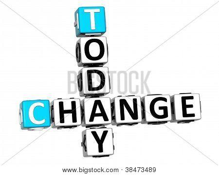 3D Today Change Crossword