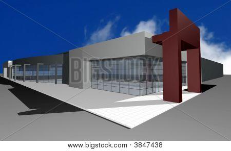 3D Render Of Modern Business Center