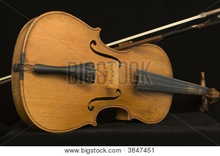 Antique Violin And Bow