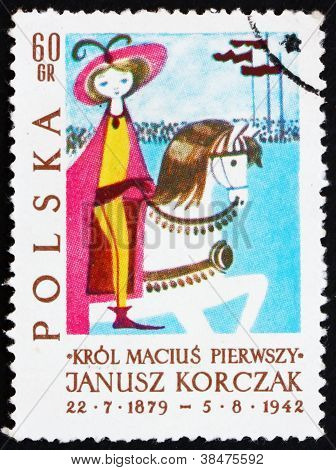 Postage stamp Poland 1962 King on Horseback, Illustration
