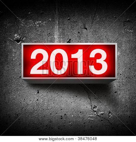 Feliz ano novo de 2013.