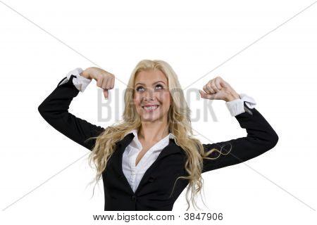 Posing Strong Female