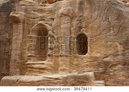 Ruins In Bab As-siq, Petra, Jordan