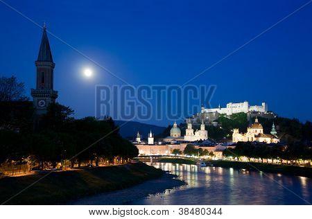 Twilight In Salzburg Town