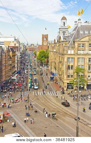 Dam Square in Amsterdam, The Netherlands