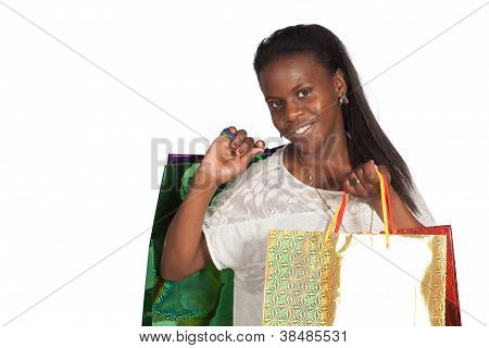 Sexy Woman With Shoping Bags