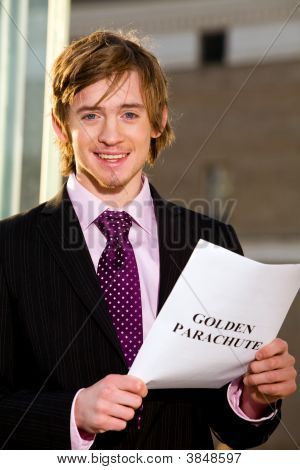 Manager Reading A Job Termination Notice Golden Parachute