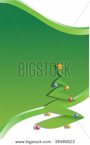 Fondo de Navidad ilustración diseño verde del árbol