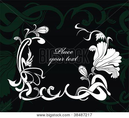background with poppy flower