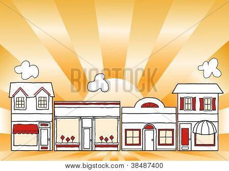 Pequenas empresas Main Street
