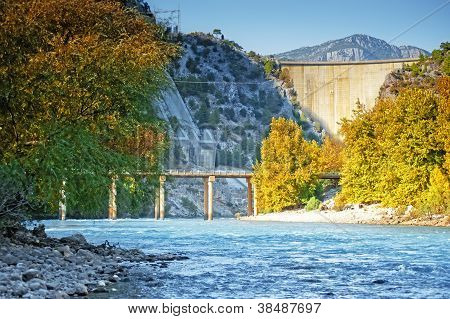 Oymapinar dam on the river Manavgat