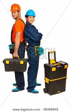 Cheerful Builders Workers