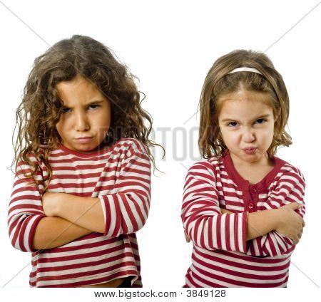 Two Girls In Quarrel
