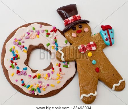 Gingerbread Man And Cookie