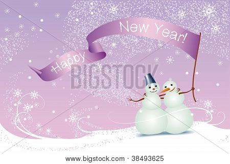 Christmas Card, Snowmen