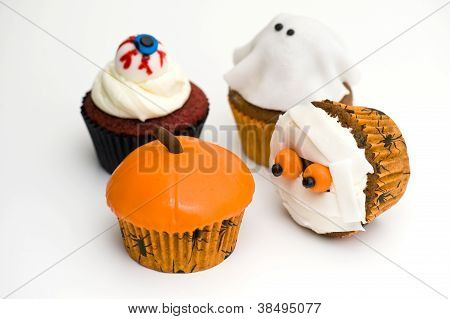 Four Halloween cakes