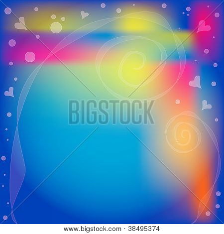 Romantic colorful background with hearts