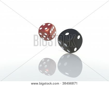 Red and Black Dices
