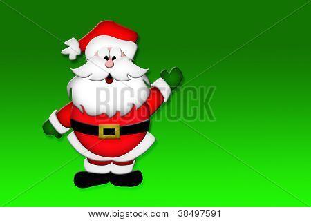 Waving Santa Claus