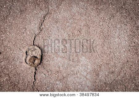 Asphalt Background With Crack