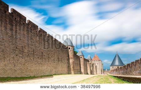 Ancient Castle Carcassonne, France.