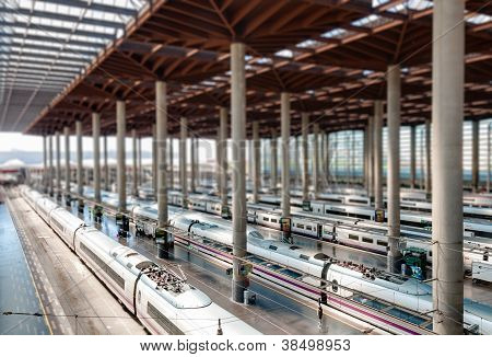 Madrid Train Station.