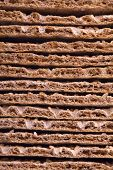 foto of wasa bread  - Close up of a crispbread with sesame seeds as a food background - JPG