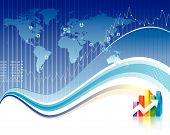 image of stock market data  - Global Finance design of vector illustration layered - JPG