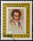 VENEZUELA - CIRCA 1980: A stamp printed in Venezuela shows image of the Simon Bolivar circa 1980