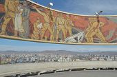 picture of ulaanbaatar  - Memory complex  Zaisan  on the tuffet of Ulaanbaatar  Mongolia - JPG