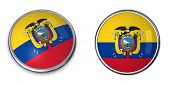 stock photo of guayaquil  - button style banner in 3D of Ecuador - JPG