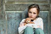 foto of lost love  - Sad Little Girl is Lost on Street - JPG