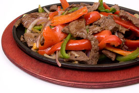 picture of mexican food  - traditional fajitas - JPG