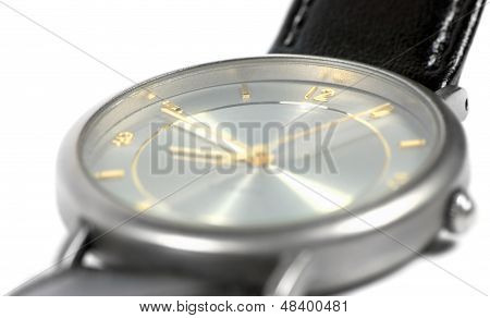 Swiss Made Watch Face, Titanium Case, Flat Sapphire Glass, Gold, Grey Classic Style Luxury Men's