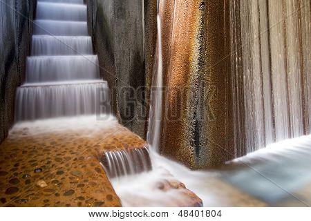 Public Parks Water Fountain Closeup