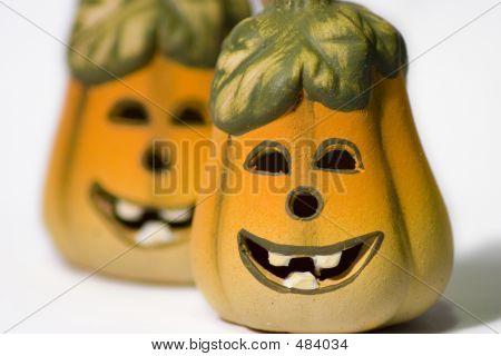 Smiley Ceramic Jack-o-lantern