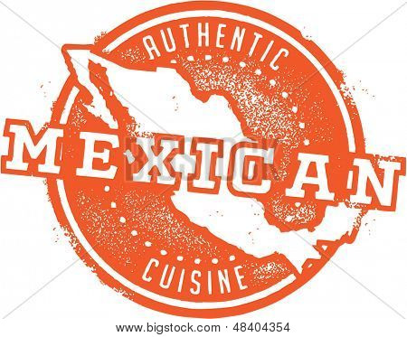 Mexican Food Menu Stamp
