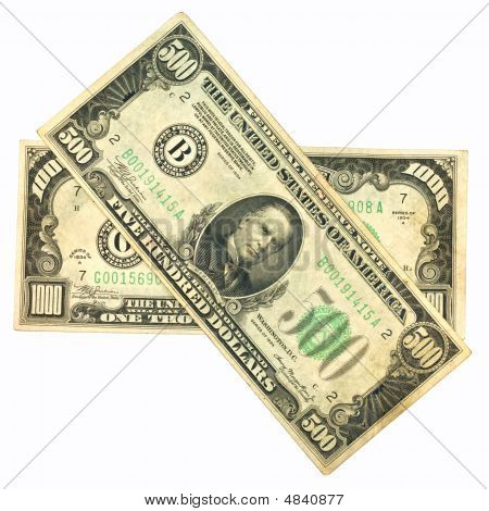 Old One Thousand And Five Hundred Dollar Bill