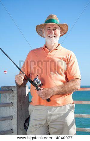 Friendly Senior Fisherman