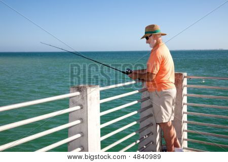 Senior Fisherman Horizontal