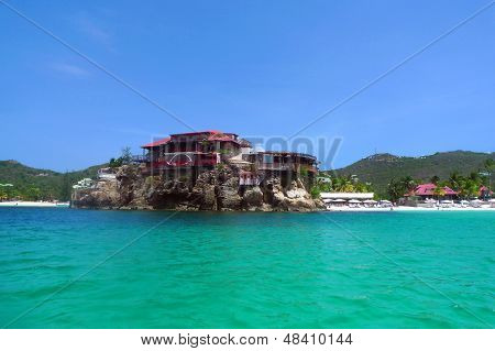 El hermoso hotel Eden Rock en St. Barts, French West Indies