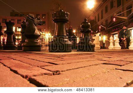 Chess at night